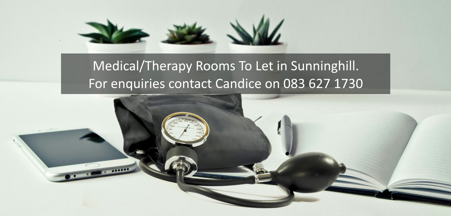 Medical Therapy Rooms To Let at Sunninghill Medical Centre. Contact Candice 0836271730